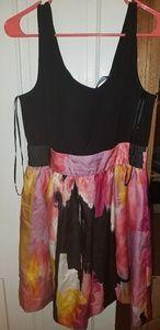 Multi colored Brushstroke Design dress